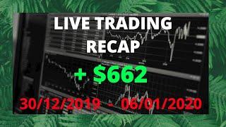 LIVE TRADING RECAP : XAU/USD & GBP/CHF ( + $662 )