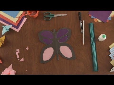 Como hacer una mariposa con papel tisu proyectos de arte - Como hacer mariposas de papel ...