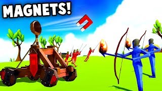MAGNET CATAPULT vs EXPLOSIVE ARCHERS! (TABS - Totally Accurate Battle Simulator New Units Gameplay)