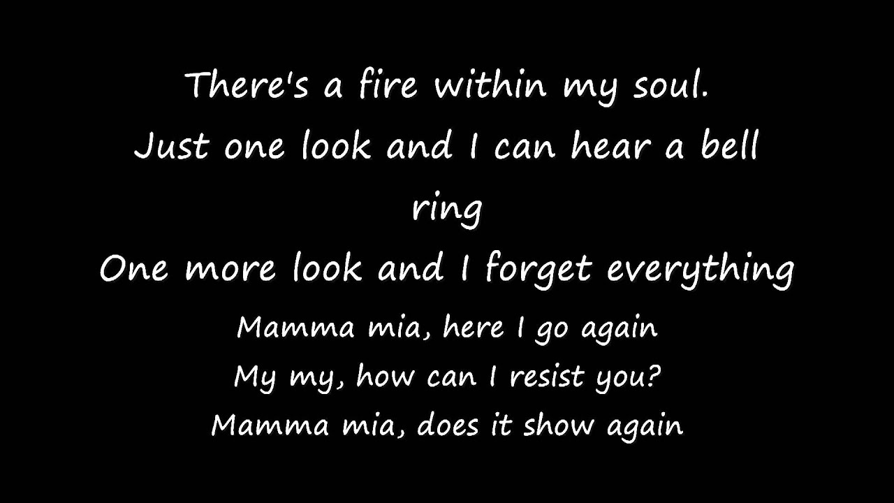 Mamma Mia LYRICS [Full Song HQ] - YouTube