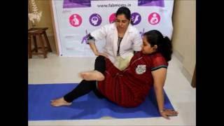 Pregnancy exercise, Yoga stretch to relieve Sciatica Pain from FabMoms Navi Mumbai