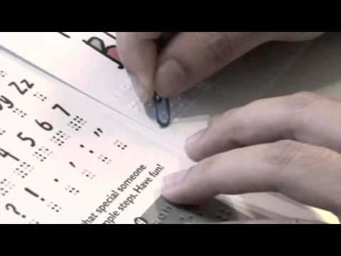 dotdot braille greeting cards instruction, Birthday card