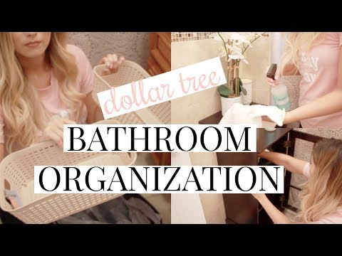 DOLLAR TREE BATHROOM ORGANIZATION + STORAGE IDEAS!