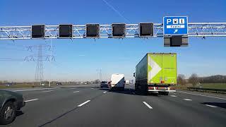 Dashcam Beelden Utrecht: A2 Toerit Maarssen Aansluiting N230 ----》Nabij Baambrugge.