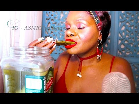 Pickle ASMR Eating Sounds Intense Crunch | Inaudible💖  Lip Smacking