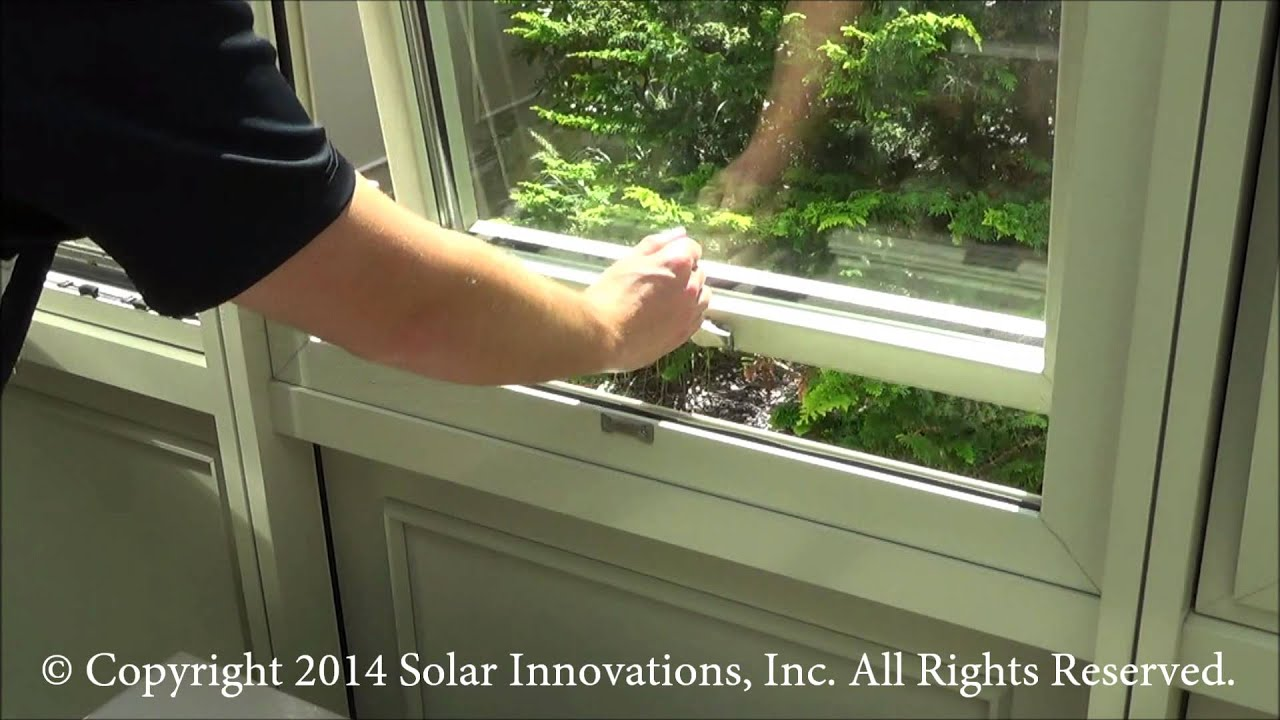 Push Out Awning Window. Solar Innovations