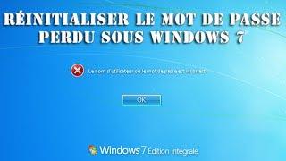Réinitialiser le mot de passe Windows 7 perdu via clé usb ou cdrom