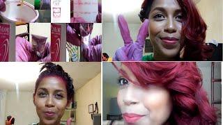 Como pintar tu cabello Rojo //Cintya Cruz