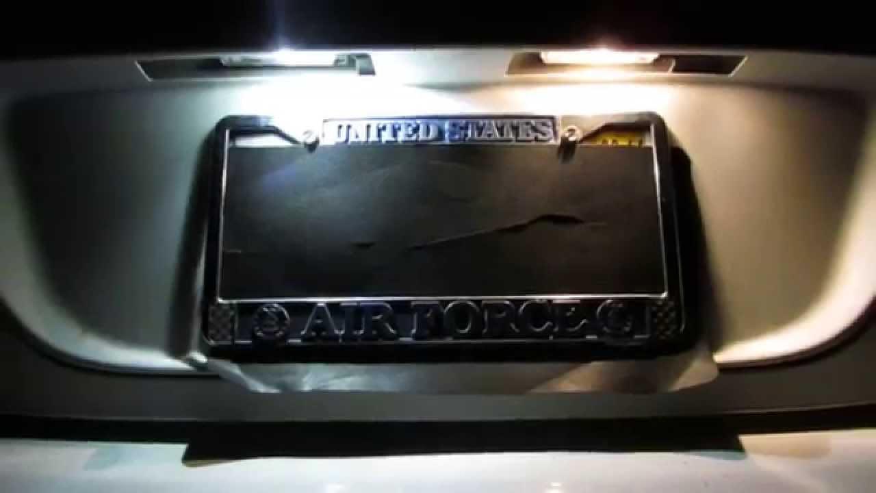 Philips X Treme T10 Led License Plate Light Comparison