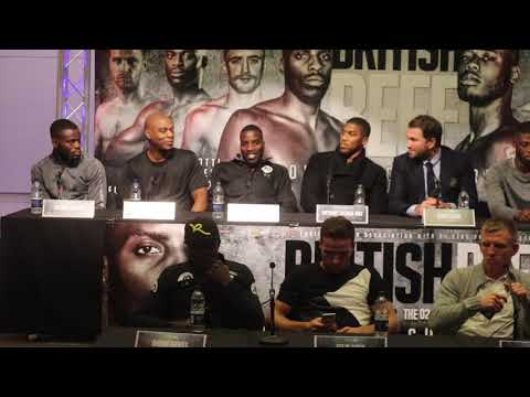 LAWRENCE OKOLIE v ISAAC CHAMBERLAIN - OFFICIAL PRESS CONFERENCE W/ EDDIE HEARN & ANTHONY JOSHUA