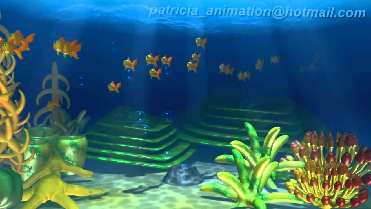 Underwater 3D Animation Running Fishes  YouTube