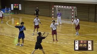 7日 ハンドボール男子 あづま総合体育館 Bコート 氷見×明星 3回戦 2