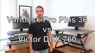 Standing Desk Review: Varidesk Pro Plus 36 Vs. Victor DCX760 Standing Desk