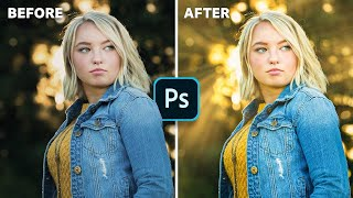 Create Light Rays In 5 EASY Steps! | Photoshop Tutorial