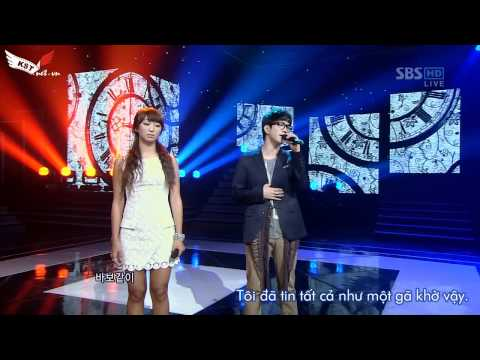 [Vietsub] G.O & Hyorin - That Man That Woman @ 110911 SBS Inkigayo (MBLAQ House@KST.NET.VN).mkv
