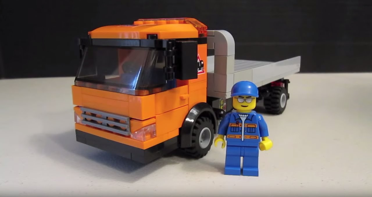 Flatbed Tow Truck >> Custom LEGO Vehicle: Flatbed Wrecker Tow Truck - YouTube