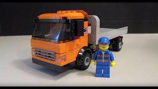 Custom LEGO Vehicle: Flatbed Wrecker Tow Truck thumbnail