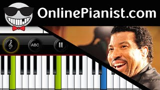 How to play Hello by Lionel Richie - Piano Tutorial