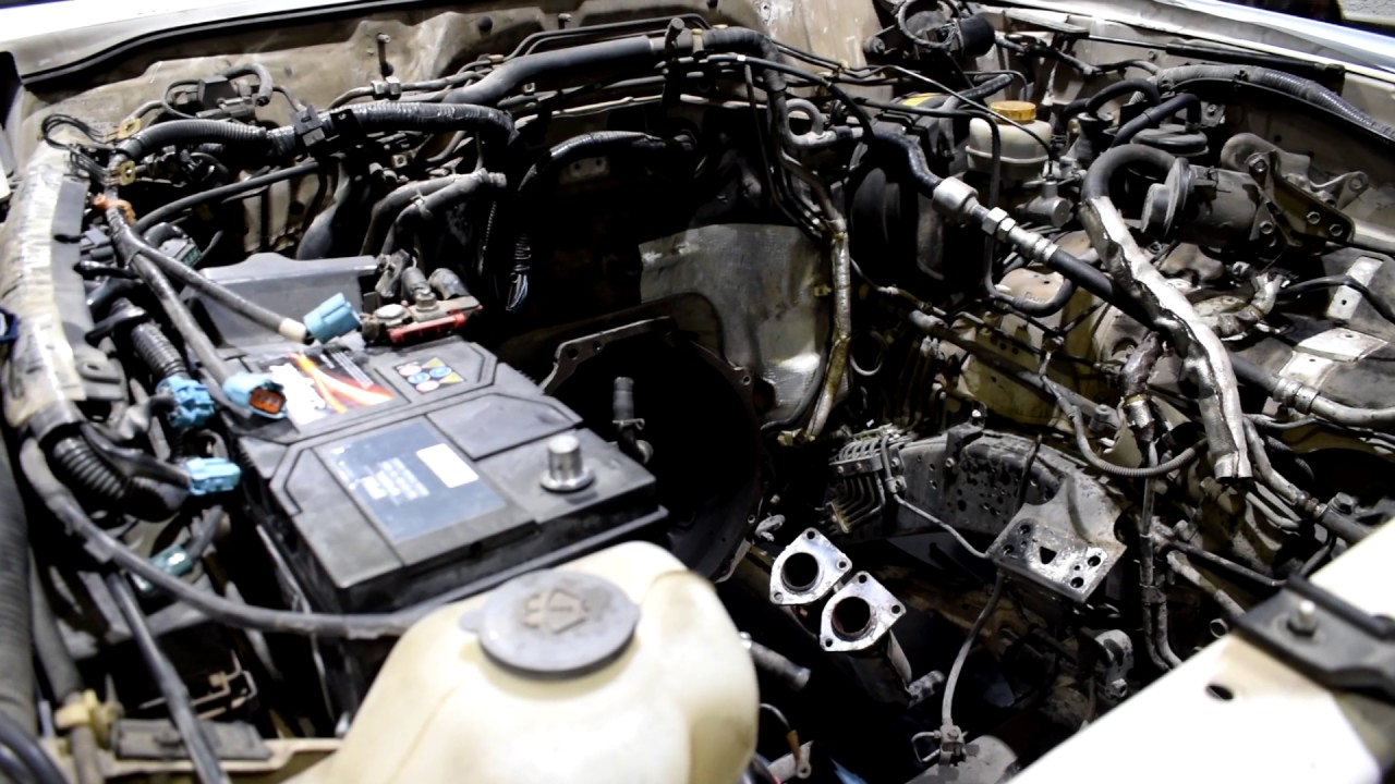 Removing engine from car | Nissan patrol engine