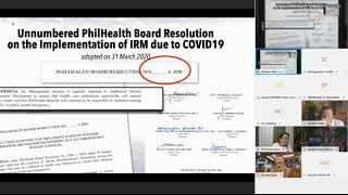 Senate hearing on alleged corruption in PhilHealth