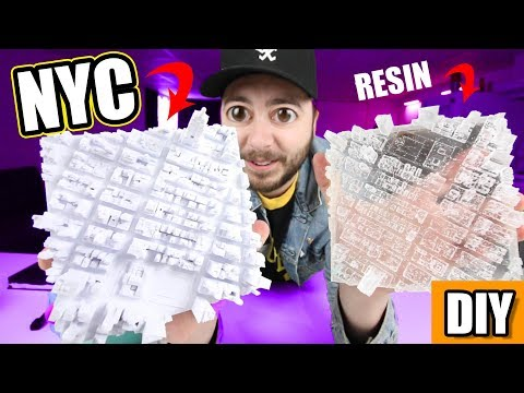 MAKING A 3-D MODEL OF NEW YORK CITY!  |  CRAFT WITH ME!