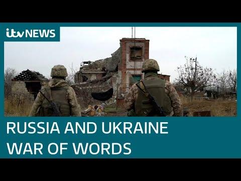 Verbal War Between Russia And Ukraine Escalates | ITV News