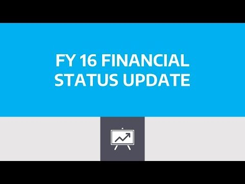 FY16 Financial Status Update