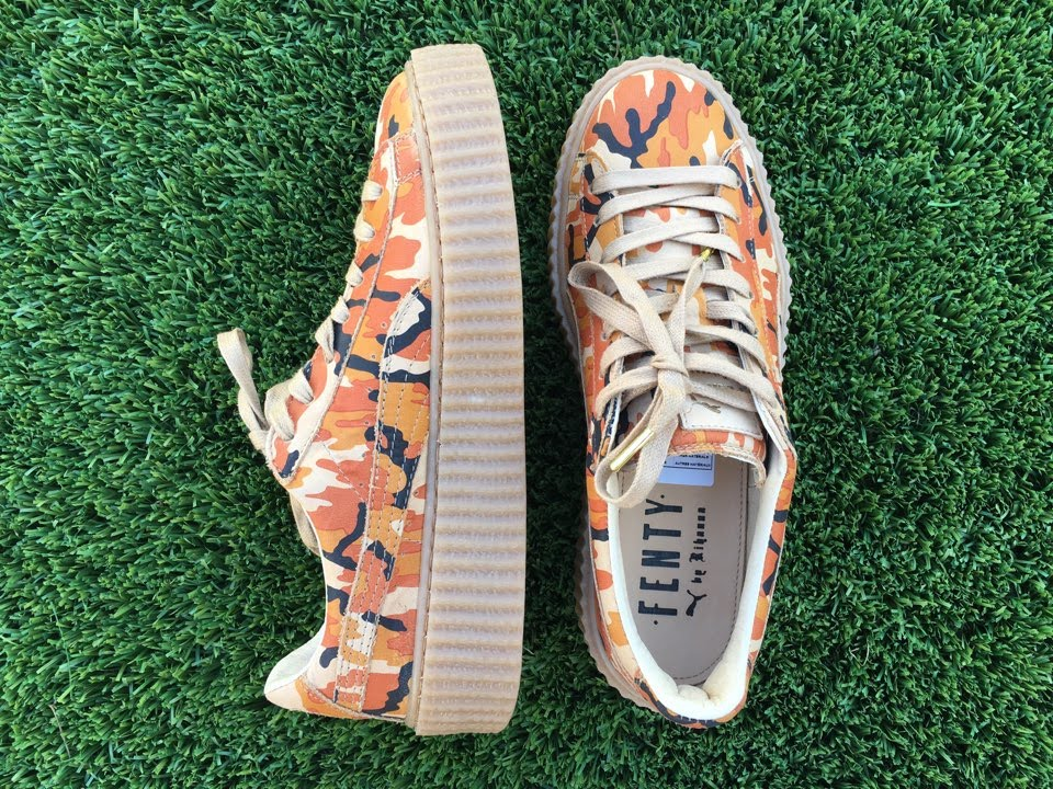 87ce0317f95d Puma x Rihanna Fenty Camo Creeper Unboxing and Fitting - YouTube