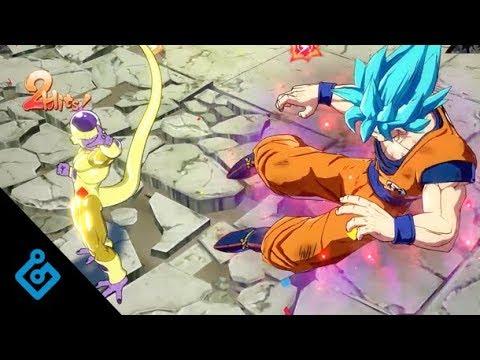 New Dragon Ball FighterZ Gameplay – Super Saiyan Gods On World Tournament Stage