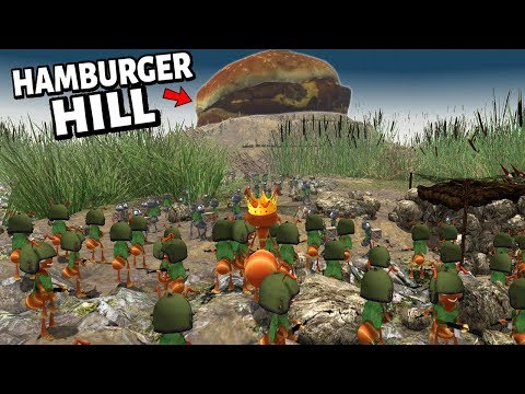 The Battle Of 'Hamburger Hill' | The ANT Colonies FIGHT For FOOD ! NEW ANT Battle Simulator