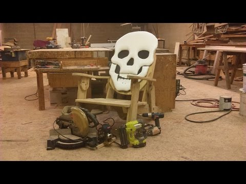 how i make a reclining adirondack style lawn  chair