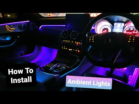 Mercedes Benz C Class W205 | RGB LED Car Interior Lights | Ambient Lights Install How To
