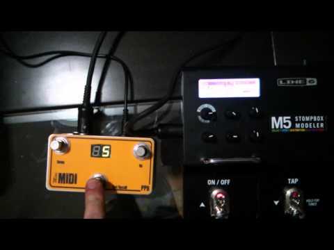 Mini MIDI e Line 6 M5