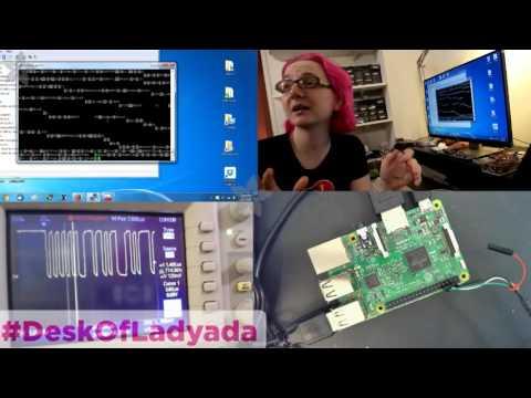 Booting up Pi3 and debugging serial console #deskofladyada @adafruit @raspberry_pi #raspberrypi #pi3