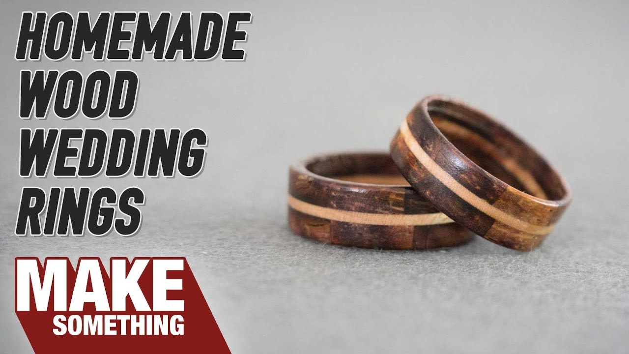 Making Segmented Wood Wedding Rings Woodworking Project YouTube