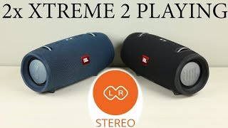 2x JBL XTREME 2 playing in stereo mode :Binaural Recording