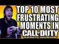 TOP 10 MOST FRUSTRATING MOMENTS IN CALL OF DUTY INFINITE WARFARE!