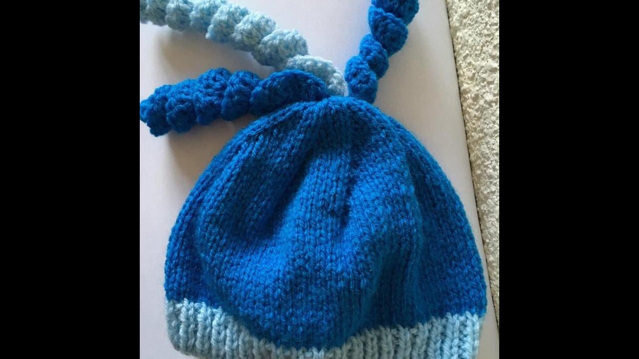 Tuto tricot facile bonnet pour bébé - YouTube