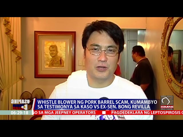 Whistle blower ng pork barrel scam, kumambyo sa testimonya sa kaso vs ex sen  Bong revilla