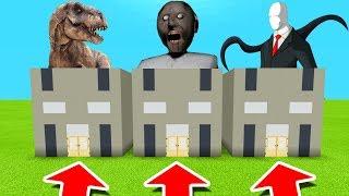 Minecraft PE : DO NOT CHOOSE THE WRONG GRANNY! (Tyrannosaurus, Granny & Slenderman)