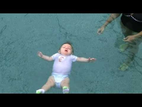 Baby Swimming In Pool Alone Youtube