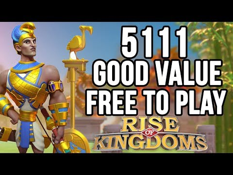 Ramesses at 5111 Good Value For Free to Play (F2P) | Rise of Kingdoms
