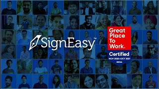 SignEasy is now Great place to Work Certified!