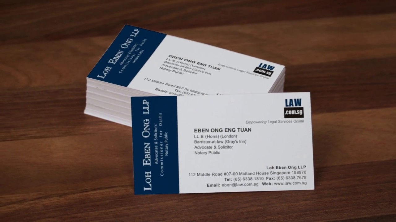 Eben Ong English Business Card - YouTube