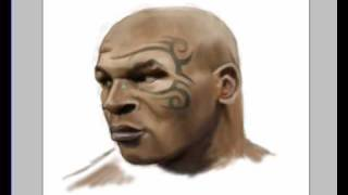 "How to draw speedpaint photoshop ""  Mike Tyson "" by Gersom Espinosa"