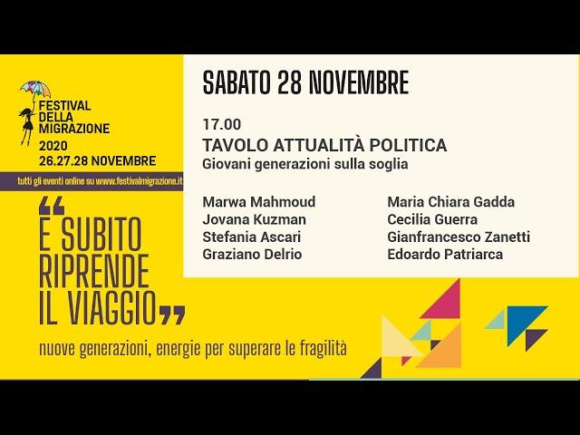 Terza sessione Festival della Migrazione 2020 // Sabato 28 novembre