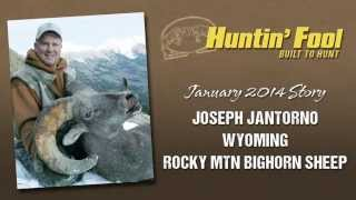 Joseph Jantorno Tags a Wyoming Rocky Mountain Bighorn Sheep