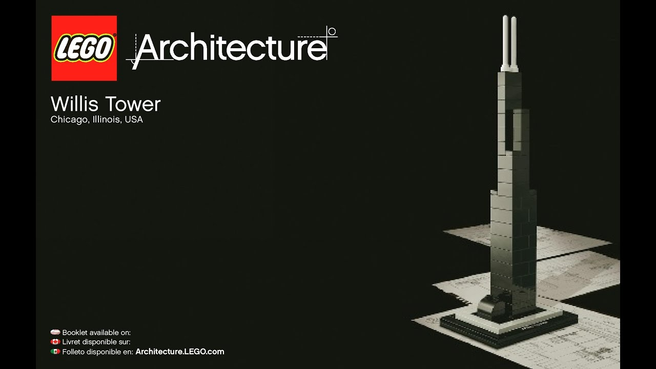 Lego Architecture Willis Tower 21000 Instructions Diy Youtube