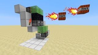 РАБОТАЮЩИЙ ДРОБОВИК В MINECRAFT стреляет сразу 2 TNT! Стреляет из-за угла!