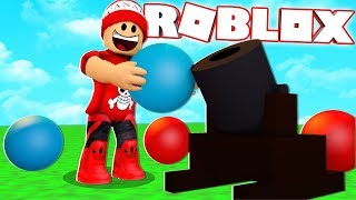 The FUN BATTLE with CANNONBALLS at ROBLOX → Ball Blast 🎮